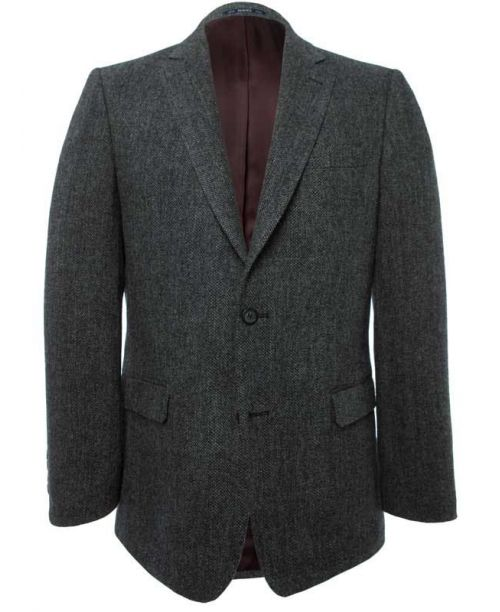 Magee Grey Herringbone Donegal Tweed Jacket