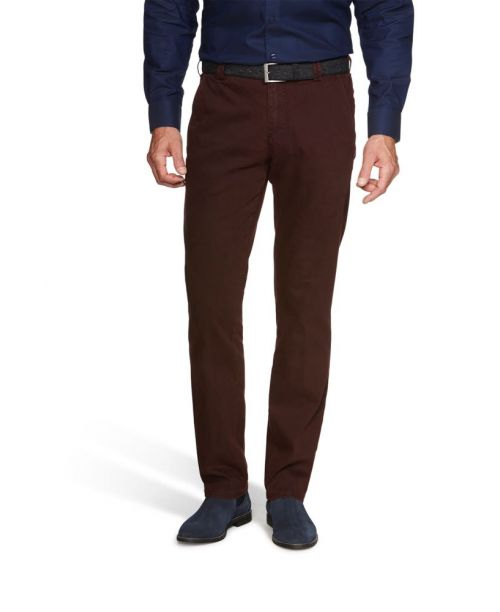 Meyer New York Super Stretch Flamme Chinos Bordeaux