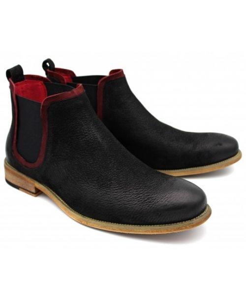 Sergio Duletti Black Chelsea Boot