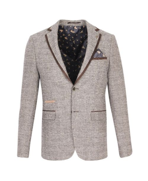 Fratelli Uniti Brown Check Jacket