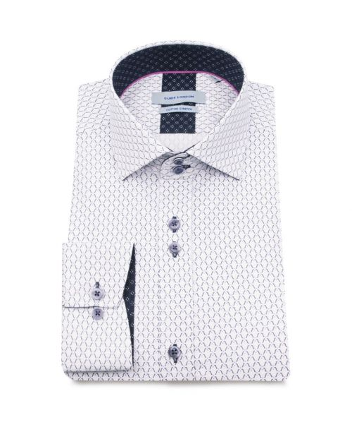 Guide London Shirt With a Small Geometric Print White