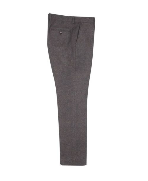Guide London Tweed Trousers Brown