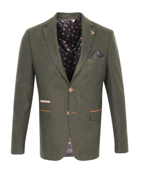 Fratelli Uniti Olive Tweed Jacket