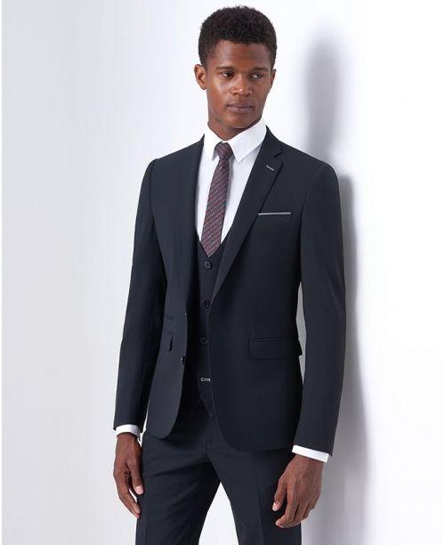 Remus Uomo Slim-Fit Wool-Blend  Mix n Match 2 Piece Suit Black
