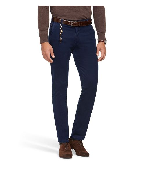 Meyer Bonn Winter Twill Super Stretch Chinos Navy