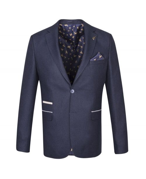 Fratelli Uniti Navy Tweed Jacket