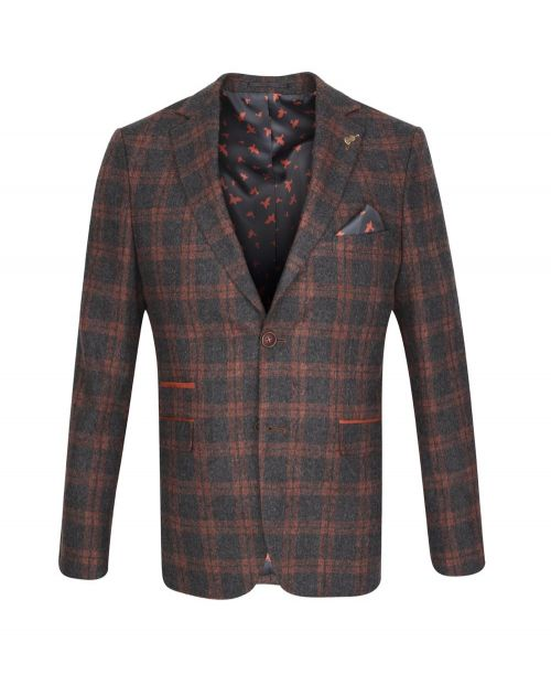 Fratelli Uniti Charcoal Check Jacket