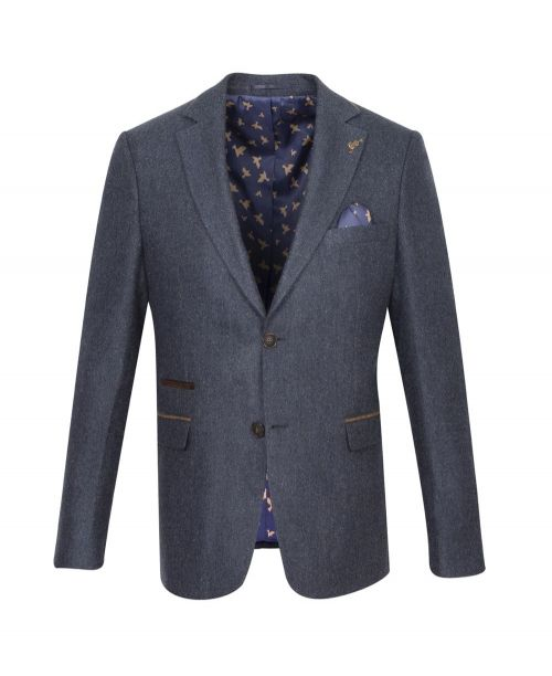 Fratelli Uniti Navy Herringbone Jacket
