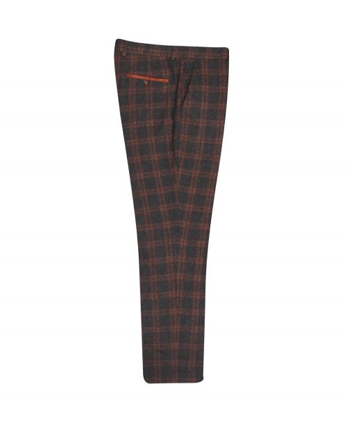Fratelli Uniti Charcoal Check Trousers