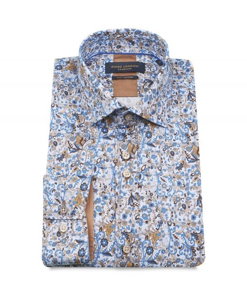 Guide London Intricate Paisley and Elephant Print Shirt