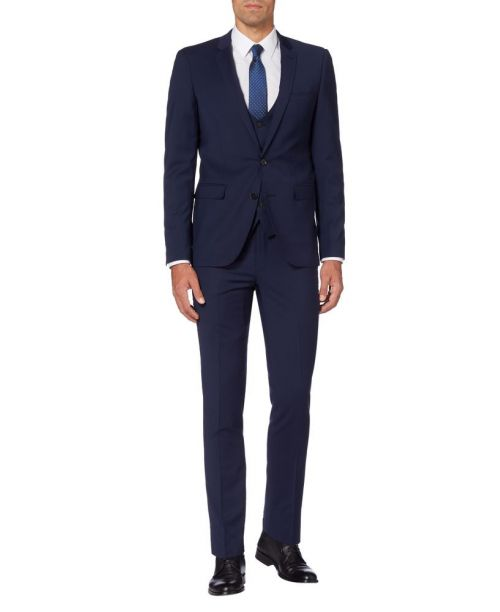 Remus Uomo X-Slim Fit Wool-Rich MnM Navy 3 Piece Suit