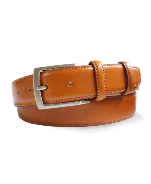 Robert Charles Tan Leather Belt 35mm