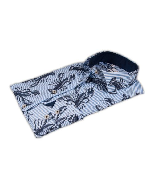 Giordano Maggiore LS Cutaway with Lobster Print