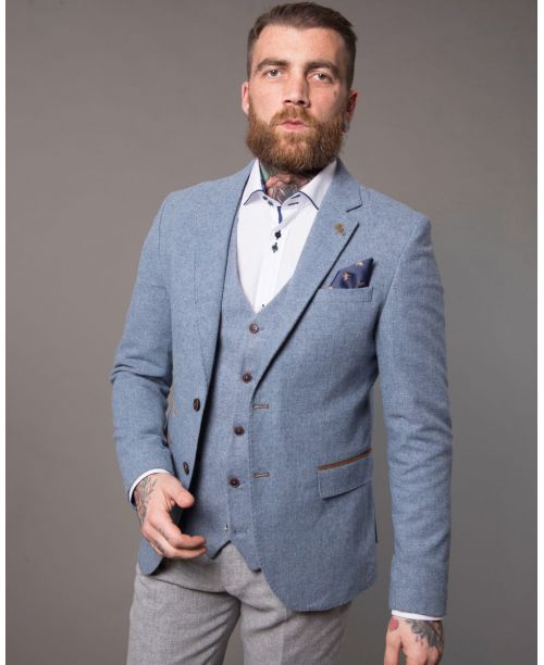 Fratelli Uniti Sky Tweed 3 Piece Suit