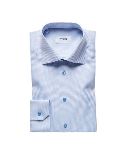 Eton Shirts Signature Twill Blue Slim Fit Shirt
