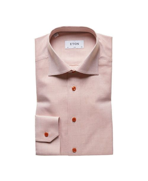 Eton Shirts Signature Twill Orange Slim Fit Shirt