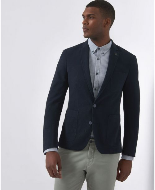 Remus Uomo Slim-Fit Cotton-Blend Jacket Navy