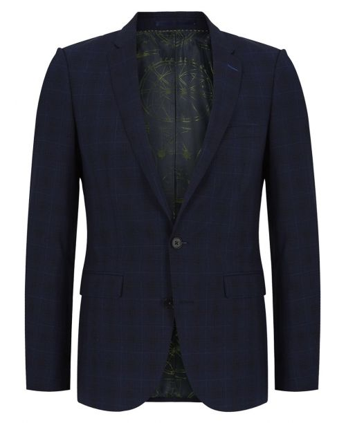Remus Uomo X-Slim Fit Checked Wool-Rich MnM Suit Navy