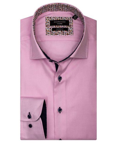 Giordano Brooks LS Semi Cutaway Pink