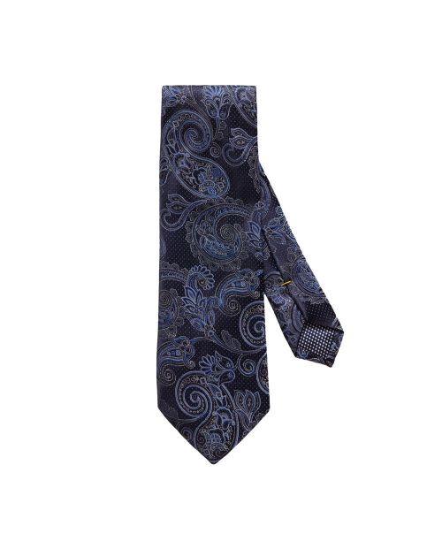 Eton Shirts Navy Paisley Silk Tie