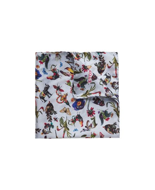 Eton Shirts Animal and Floral Print Pocket Square