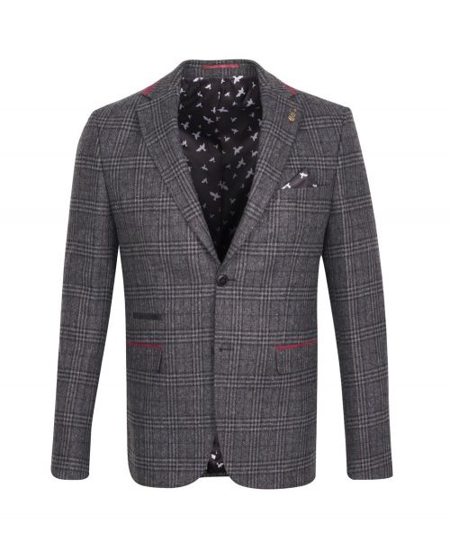 Fratelli Uniti Dark Grey Windowpane Jacket