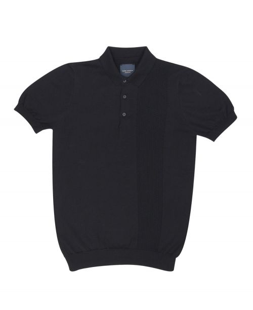 Guide London S/S Knitted Polo Black