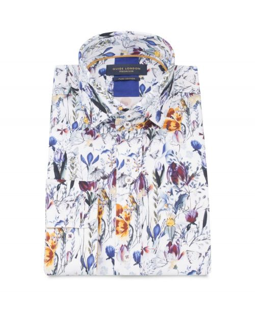 Guide London Floral and Butterfly Print Shirt