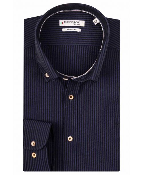 Giordano Torrino LS Button Down Dark Navy