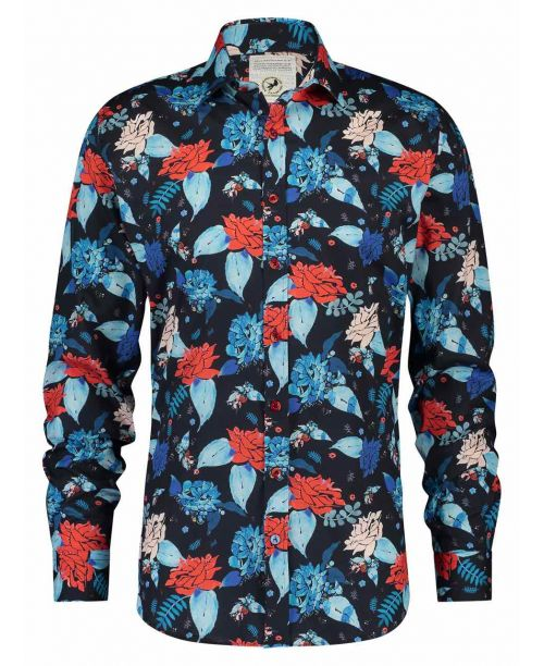 A Fish Named Fred Shirt Watercolour Flowers Red