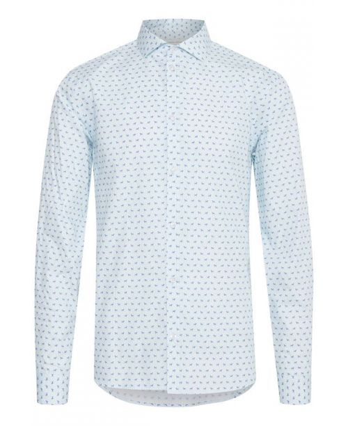 Casual Friday LS Blue Dog Print Shirt