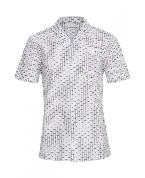 Casual Friday SS Black/White Print Shirt