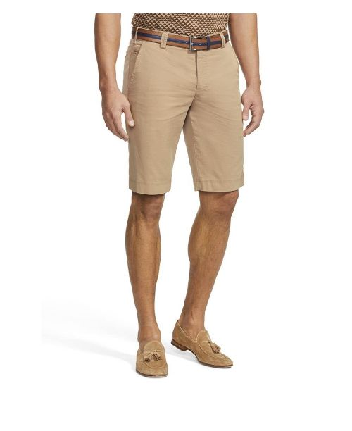Meyer B-Palma Cotton Stretch Bermuda Shorts Camel