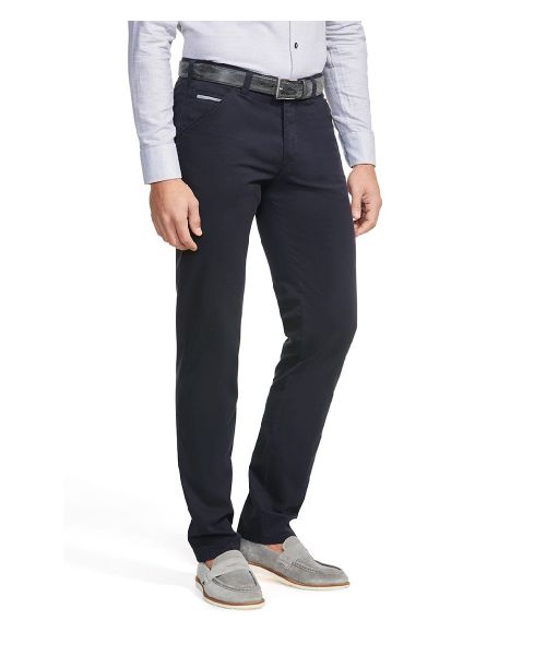 Meyer Chicago Summer Cotelé Chinos Navy