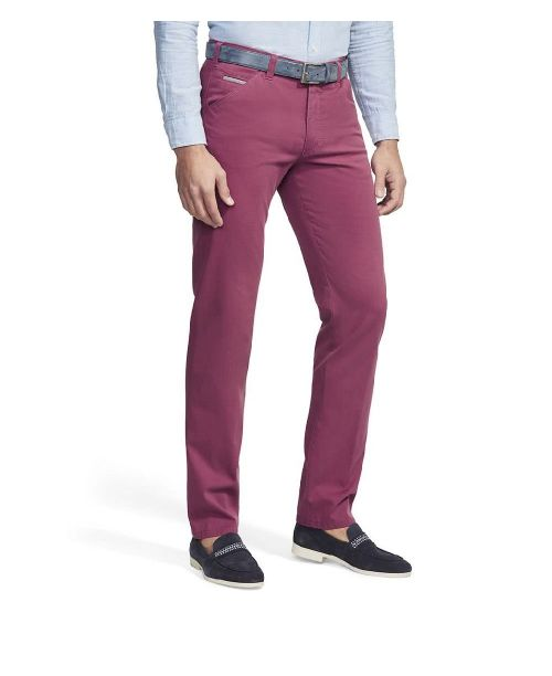 Meyer Chicago Summer Cotelé Chinos Raspberry